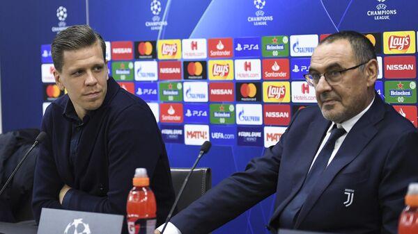 Войцех Щенсны (слева) и главный тренер ФК Ювентус Маурицио Сарри