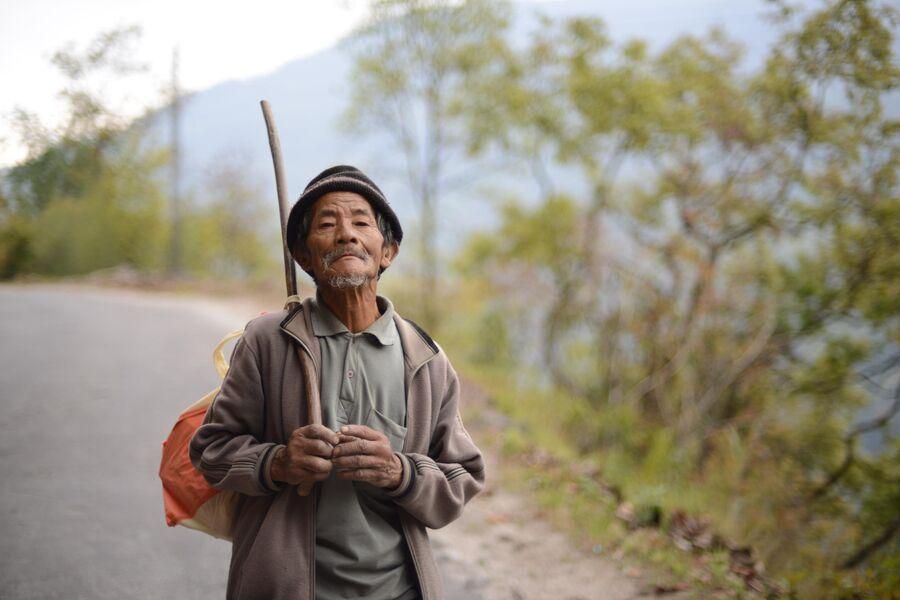 Житель штата Сикким в Индии