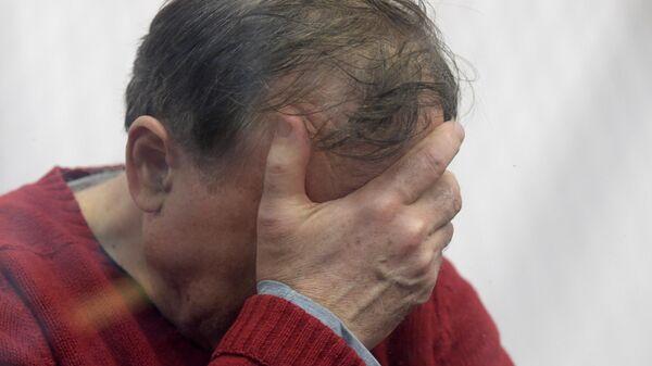 Доцент СПбГУ Олег Соколов, подозреваемый в убийстве аспирантки, на заседании Октябрьского районного суда Санкт-Петербурга
