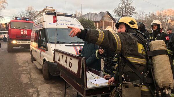 Пожар в одном из зданий Морозовских казарм в Твери