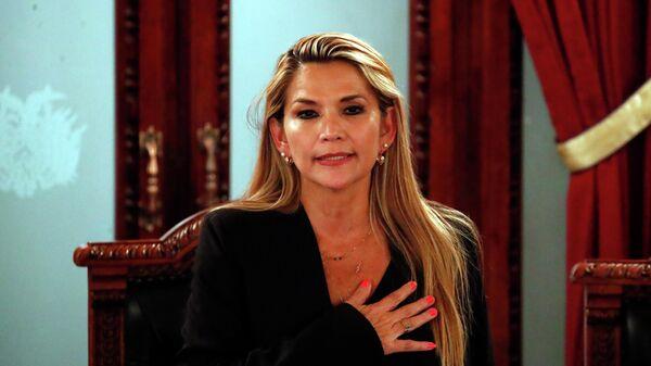 Оппозиционный сенатор Жанин Аньес, исполняющая обязанности президента Боливии после отставки Эво Моралеса