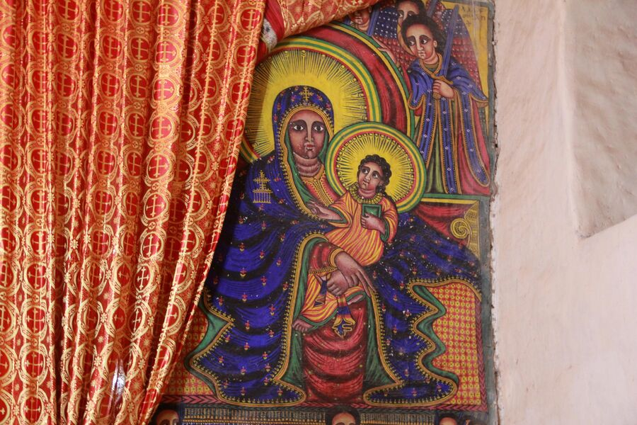 Икона в храме Девы Марии Сионской. Аксум