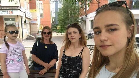Татьяна Кирсанова с дочерьми