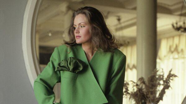 Манекенщица Маргарита Тимофеева на первом Всесоюзном фестивале Мода – 87