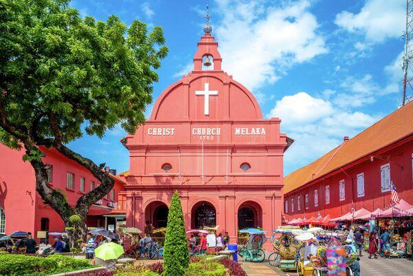 Церковь Христа и Голландская площадь в Малакке