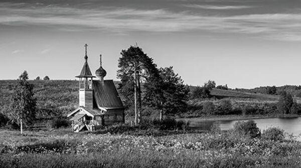 Духовская часовня,  нач. XIX века,  д. Глазово, Кенозерский национальный парк