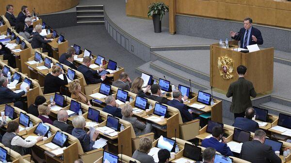 Пленарное заседание Госдумы РФ по бюджету и налогам