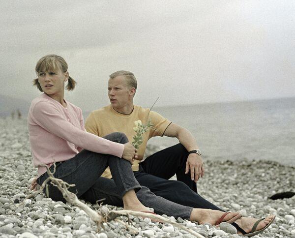 Гимнасты Ольга Карасева и Валерий Карасев