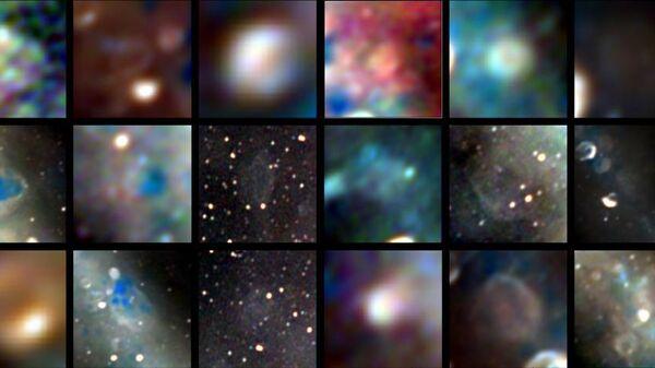 Радиоизображения 27 объектов — остатков сверхновых, взорвавшихся  от тысячи до сотен тысяч лет назад