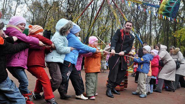 Праздничные мероприятиях в городском парке в городе Мытищи