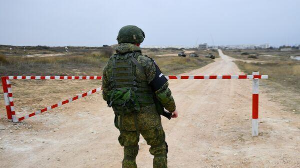 Военнослужащий подразделения морской военной полиции Черноморского флота