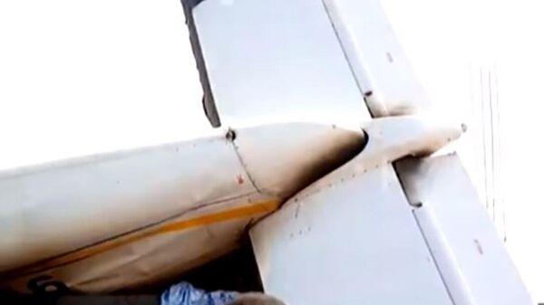 Последствия падения самолета на востоке Демократической Республике Конго