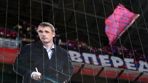 Фигура с изображением Виктора Ганчаренко на трибунах болельщиков ЦСКА