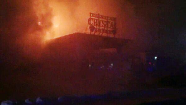 Пожар в ресторане Кристалл в Сургуте