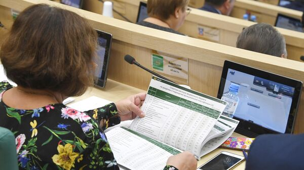 На парламентских слушаниях в Совете Федерации РФ на тему: О параметрах проекта федерального бюджета на 2020 год и на плановый период 2021 и 2022 годов