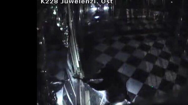 Стоп-кадр видео ограбления сокровищницы Зеленый свод в Дрездене