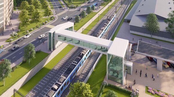 Надземный переход между Савеловским и Белорусским вокзалами в Москве