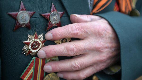 Боевые награды на груди ветерана Великой Отечественной войны