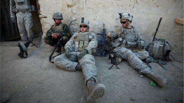 Военнослужащие США и Афганистана в провинции Кандагар в Афганистане