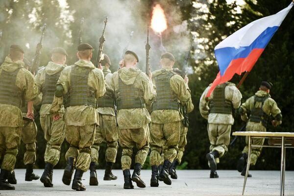 Показательные выступления в рамках акции Служить России суждено тебе и мне в международном детском центре Артек в Крыму