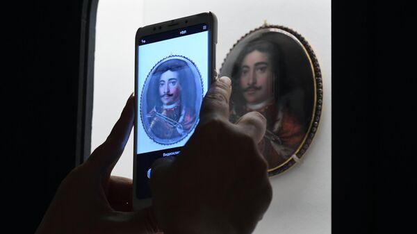 Портрет царя Петра I (Питер ван дер Верф, Голландия, около 1697 г.), представленный на выставке Петр. Первый. Коллекционер, исследователь, художник