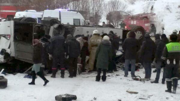 ДТП в Забайкальском крае, где автобус упал с моста