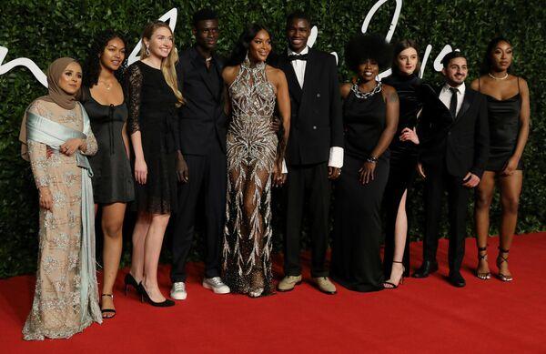 На церемонии вручения премии British Fashion Awards 2019