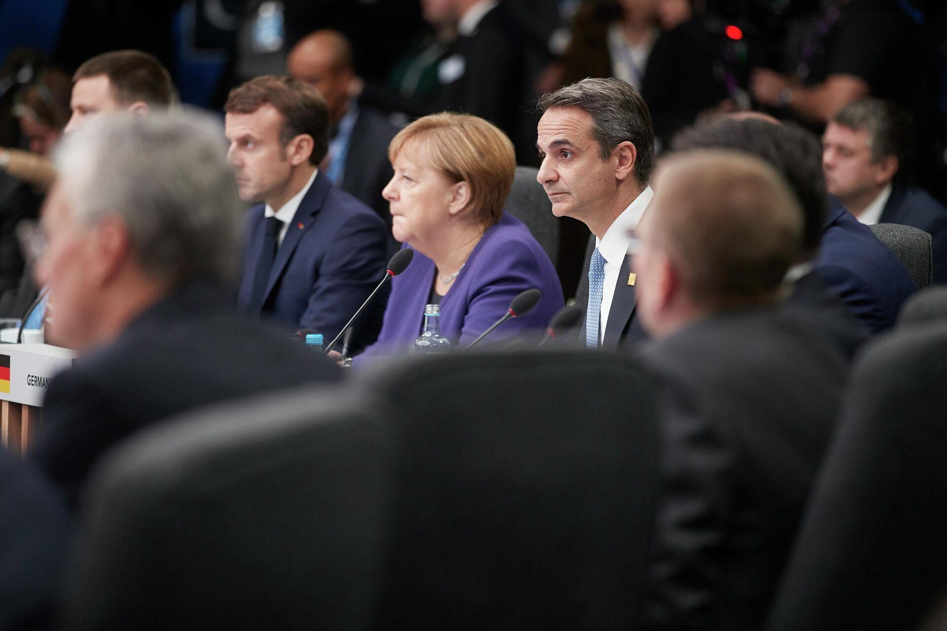 Премьер-министр Греции Кириакос Мицотакис на саммите НАТО в Лондоне. 4 декабря 2019 - РИА Новости, 1920, 31.05.2021