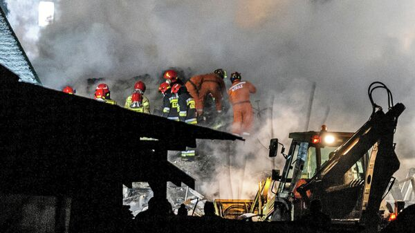 Взрыв газа в жилом доме в городе Шчырке, Польша. 4 декабря 2019