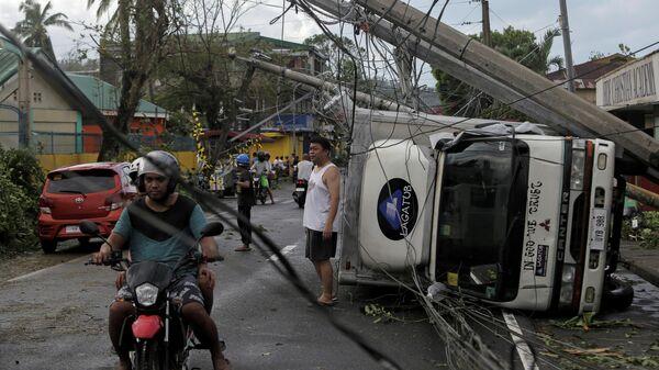 Последствия прохождения тайфуна на Филиппинах