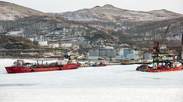 Поселок Славянка южнее Владивостока, где будет базироваться плавучий космодром Морской старт