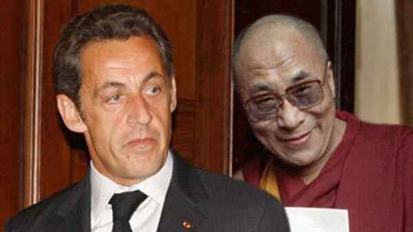 Николя Саркози и Далай-лама