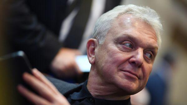 Президент Ассоциации гольфа России Виктор Христенко на ежегодном Олимпийском собрании в Москве.