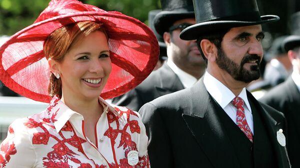 Принцесса Хайя бинт аль-Хусейн и шейх Дубая Мохаммед бен Рашид Аль Мактум на Королевских скачках в Аскоте