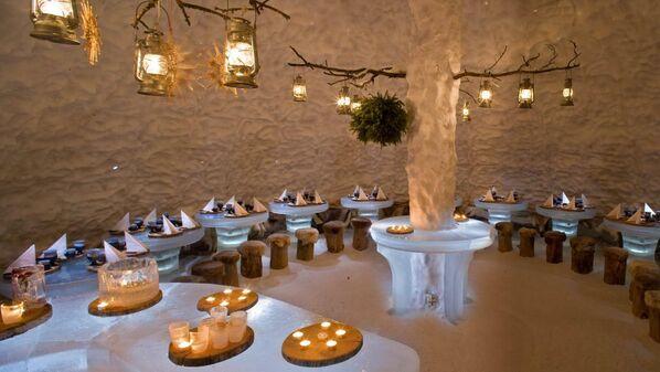 Ледяной ресторан Lumimaa Snowland