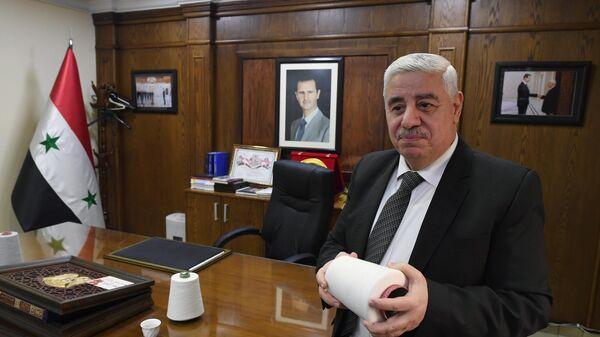 Министр промышленности Сирии Мухаммад Маан Джазбе во время интервью корреспонденту РИА Новости