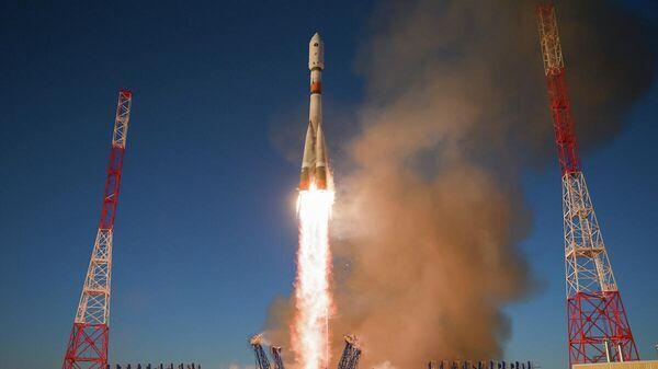 Пуск ракеты-носителя с космическим аппаратом системы ГЛОНАСС с космодрома Плесецк
