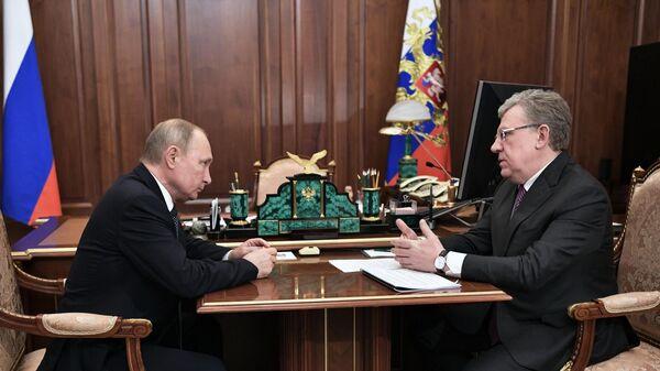 Президент РФ Владимир Путин и председатель Счетной палаты РФ Алексей Кудрин во время встречи. 11 декабря 2019