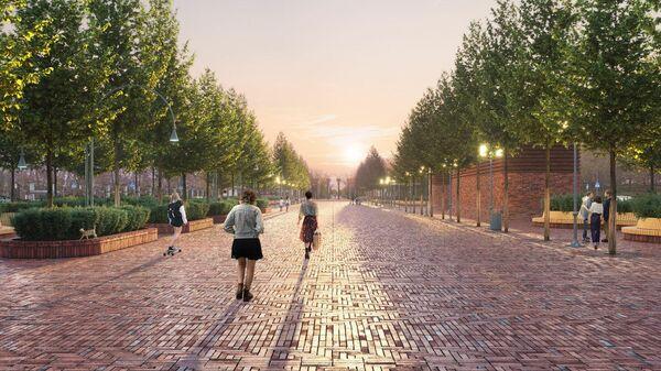Проект благоустройства Сокольнической площади в Москве