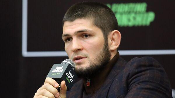 Боец смешанного стиля, чемпион UFC в легком весе Хабиб Нурмагомедов