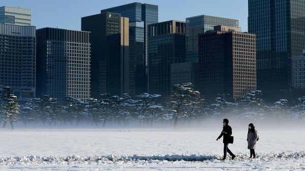Город Токио зимой