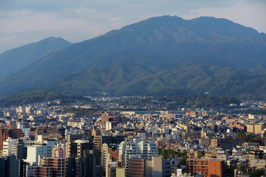 Вид на город Киото