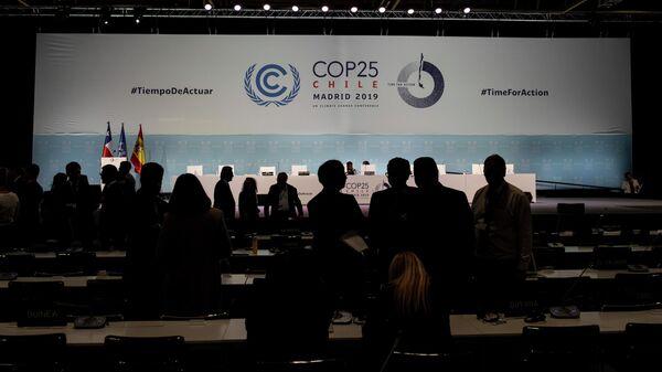 Участники Конференции сторон Рамочной конвенции ООН об изменении климата (COP25) в Мадриде, Испания. 15 декабря 2019