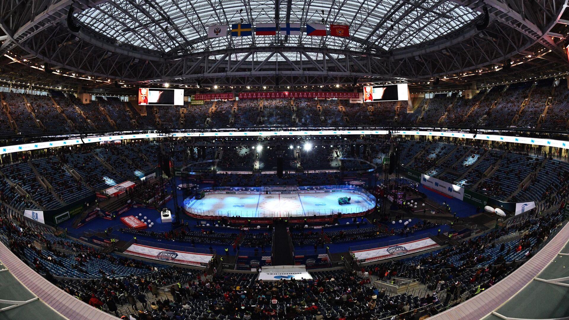 Стадион Газпром Арена перед началом матча Россия – Финляндия - РИА Новости, 1920, 21.04.2020