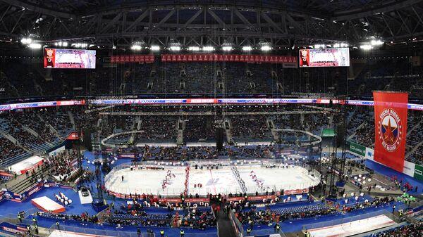 Хоккеисты сборных России и Финляндии началом матча