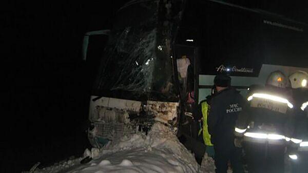 На месте ДТП с автобусом в Нижегородской области