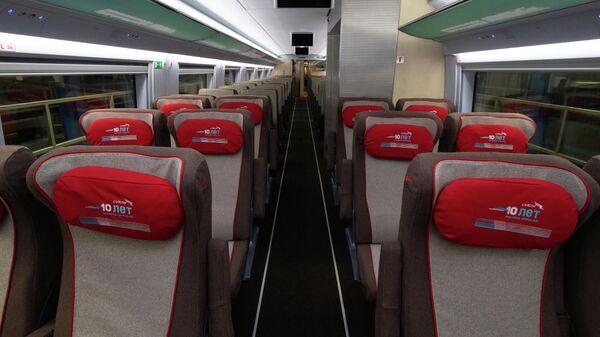 Новый интерьер  поезда Сапсан