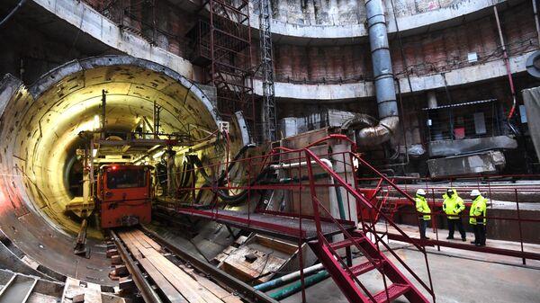 Строительство станции Ржевская Большой кольцевой линии  метро