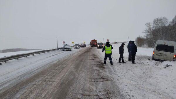 ДТП на 199 км автодороги Р-257 Енисей. 20 декабря 2019