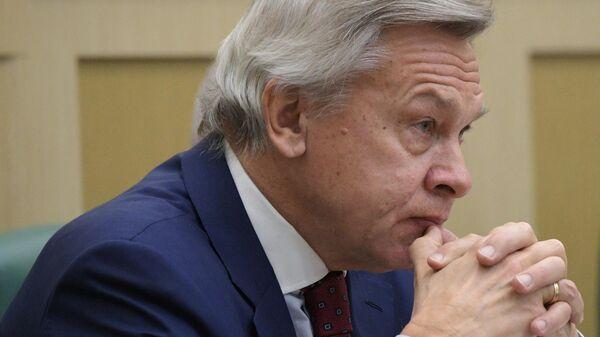 Председатель комиссии Совета Федерации по информационной политике и взаимодействию со средствами массовой информации Алексей Пушков